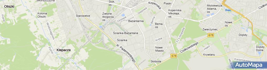 Zdjęcie satelitarne NZOZ Podlaskie Centrum Medyczne
