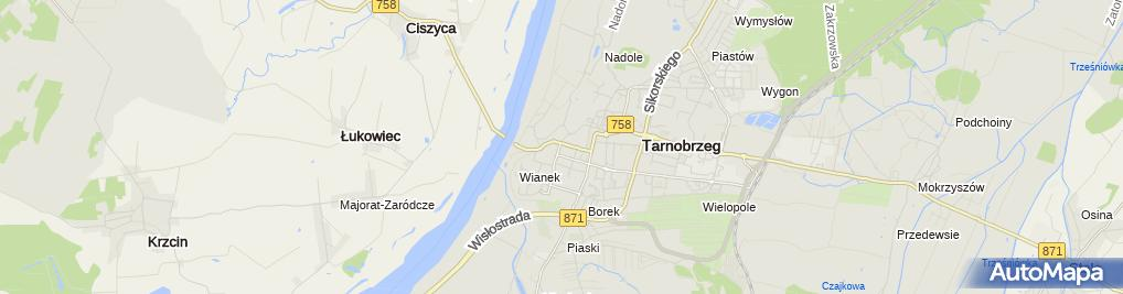 Zdjęcie satelitarne Przychodnia Specjalistyczna w Tarnobrzegu