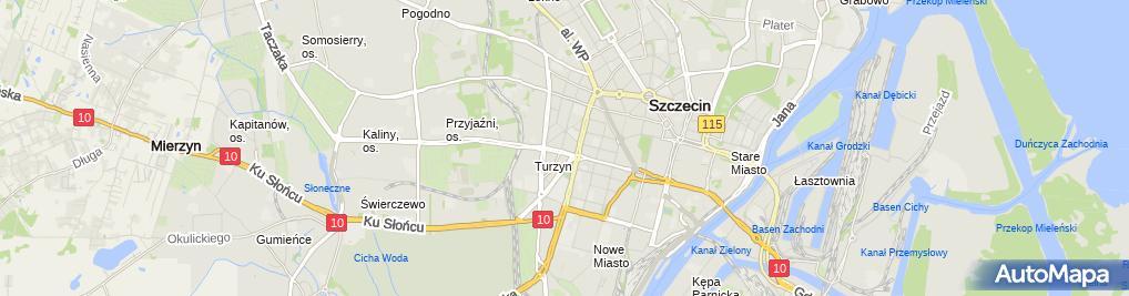 Zdjęcie satelitarne WOMP - Zachodniopomorskie Centrum Leczenia i Profilaktyki