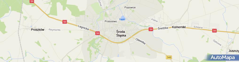 Zdjęcie satelitarne PZU Oddział Środa Śląska