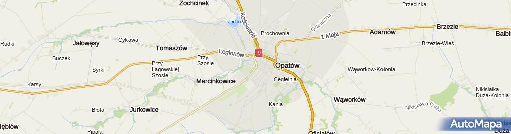 Zdjęcie satelitarne PZU Oddział