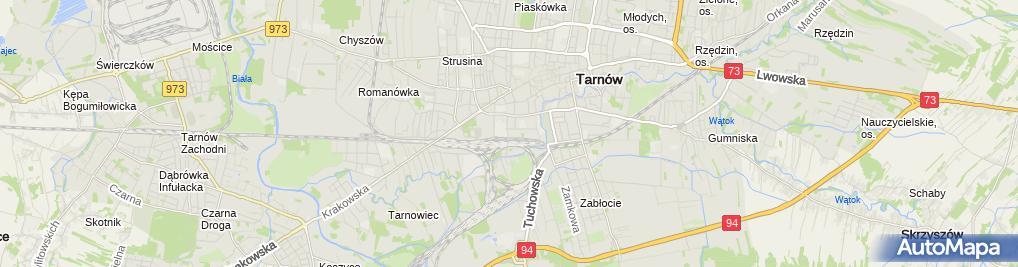 Zdjęcie satelitarne BACA Rowery