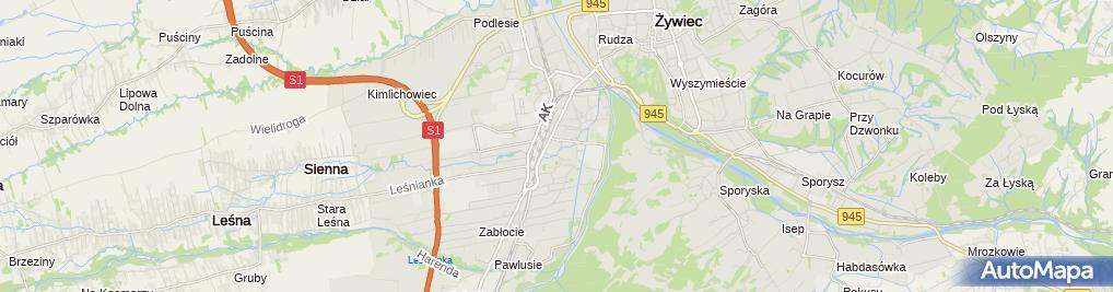 Zdjęcie satelitarne p.w. św. Floriana
