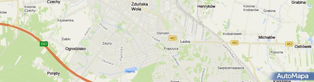 Zdjęcie satelitarne św. Antoniego z Padwy