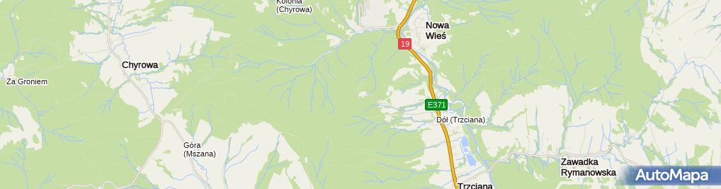 Zdjęcie satelitarne św. Jana z Dukli - Na Puszczy