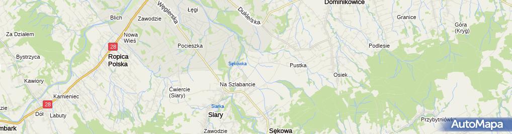 Zdjęcie satelitarne Sękowski Dwór