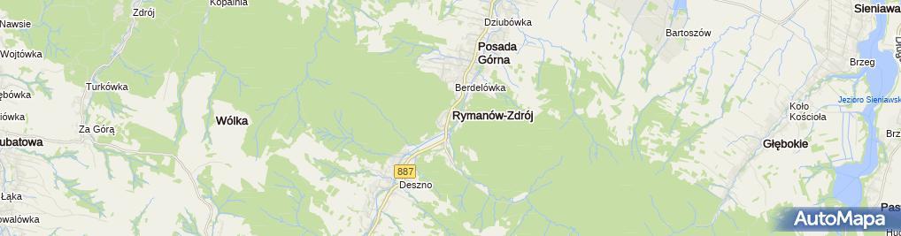 Zdjęcie satelitarne Sanatorium Rymanów - wilia Opatrzność