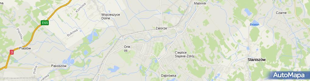Zdjęcie satelitarne Uzdrowisko Cieplice - Dom Zdrojowy