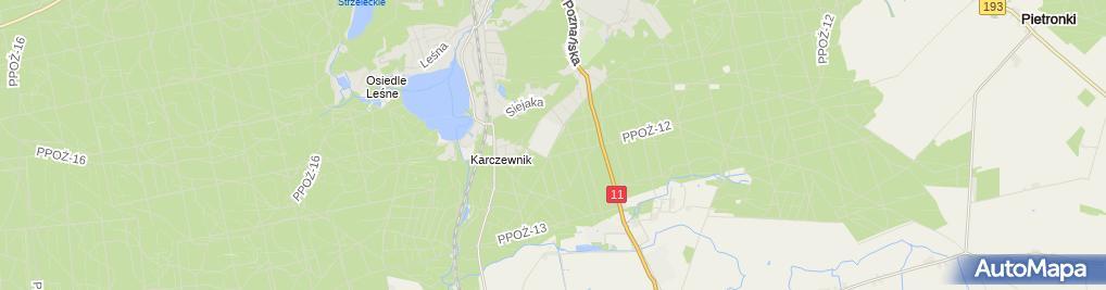 Zdjęcie satelitarne Porcelana Chodzież- sklep firmowy