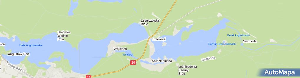 Zdjęcie satelitarne Śluza Przewięź- Kanał Augustowski (43