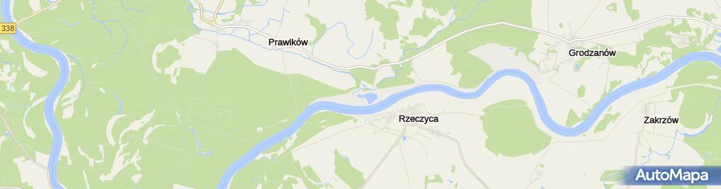 Zdjęcie satelitarne stopień wodny Malczyce- rz. Odra [300]