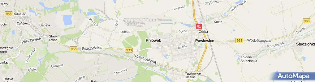 Zdjęcie satelitarne SM Pawłowice
