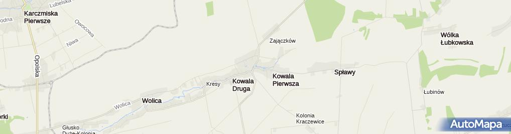 Zdjęcie satelitarne Ochotnicza Straż Pożarna