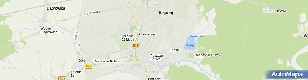 Zdjęcie satelitarne Szkoła Muzyczna CASIO w Biłgoraju