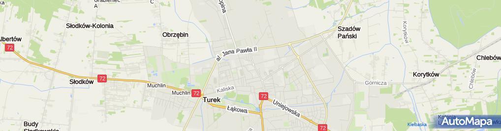 Zdjęcie satelitarne ZS Technicznych im. prof. gen. Sylwestra Kaliskiego