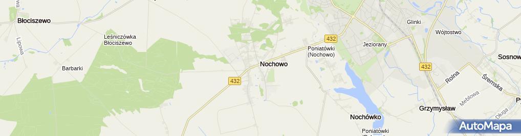 Zdjęcie satelitarne ZSPIG w Nochowie