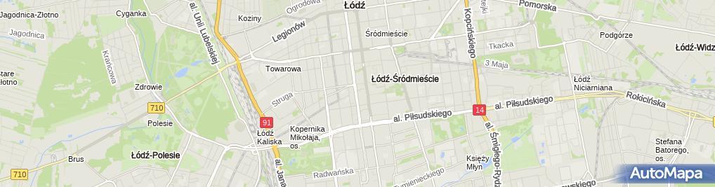 Zdjęcie satelitarne Centrum Medyczne