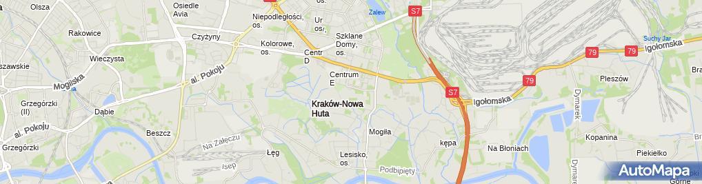 Zdjęcie satelitarne Szpital im. Stefana Żeromskiego