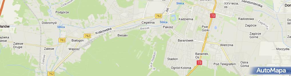 Zdjęcie satelitarne Szpital Psychiatryczny i Odwykowy
