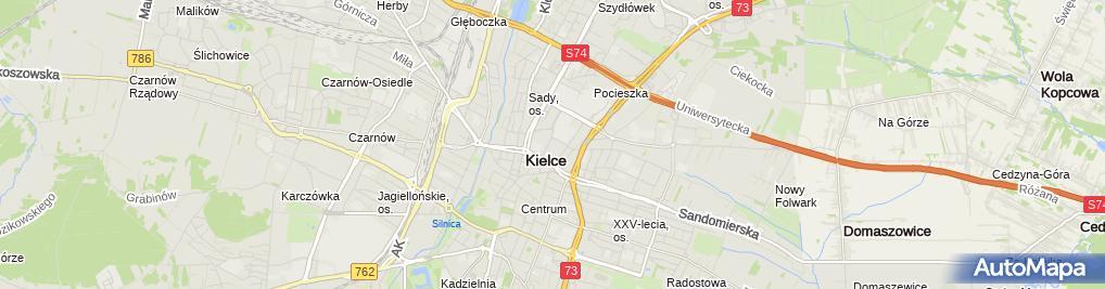 Zdjęcie satelitarne Wojewódzki Szpital Zespolony