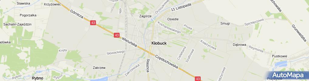 Zdjęcie satelitarne Targowisko
