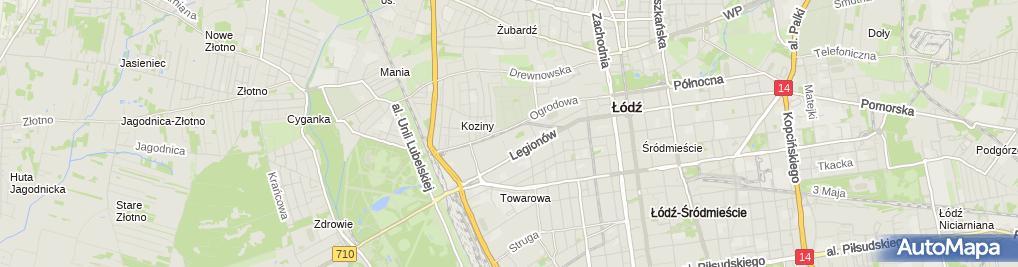Zdjęcie satelitarne K-EX (dawniej Kolporter Express)