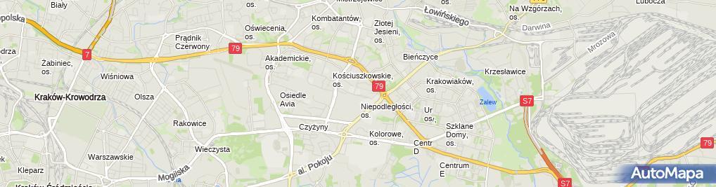 Zdjęcie satelitarne Szkoła Wyższa im. Bogdana Jańskiego