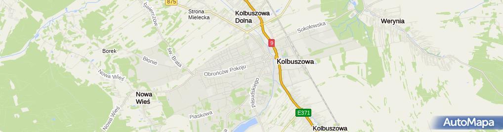 Zdjęcie satelitarne Urząd Miejski w Kolbuszowej
