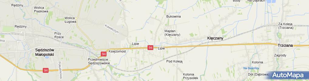 Zdjęcie satelitarne Volvo Trucks Olchowa
