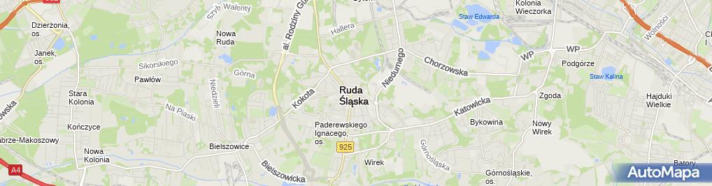 Zdjęcie satelitarne Okoń