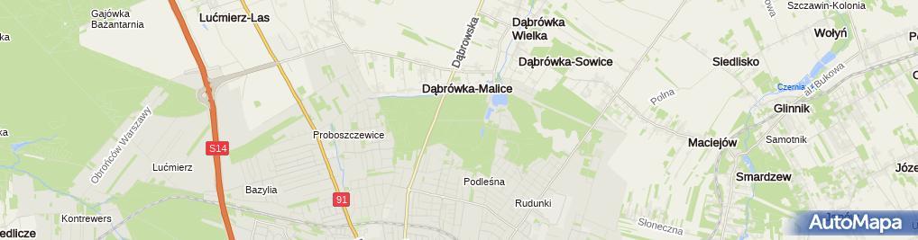 Zdjęcie satelitarne Wyciąg Ski-Park Malinka II