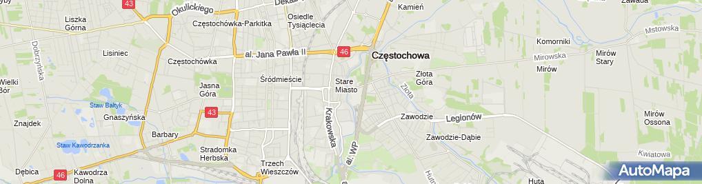 Zdjęcie satelitarne Tauron Polska Energia S.A. POK Częstochowa