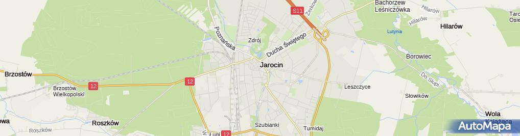 Zdjęcie satelitarne Jezierski Przedsiębiorstwo Pogrzebowe