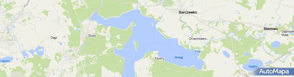 Zdjęcie satelitarne Jezioro Wadąg