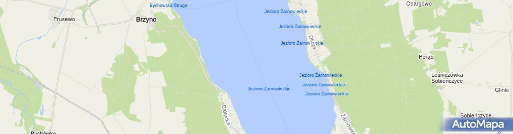 Zdjęcie satelitarne Jezioro Zarnowieckie