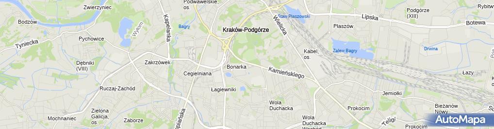 Zdjęcie satelitarne Kraków - Bonarka City Center - Stacja paliw Auchan