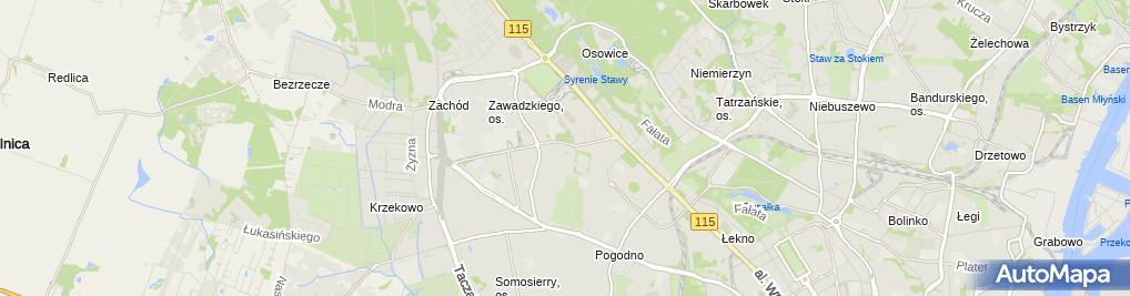Zdjęcie satelitarne Szczecin Wzgorze Napoleona (1)
