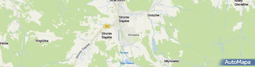 Zdjęcie satelitarne Szpital psychiatryczny Stronie Śląskie, WTZ PL