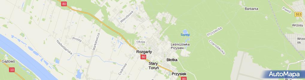 Zdjęcie satelitarne Żeglarski