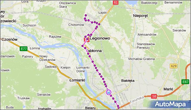 Rozkład jazdy autobusu 731 na przystanku EKSPRESOWA 02. ZTM Warszawa na mapie Targeo