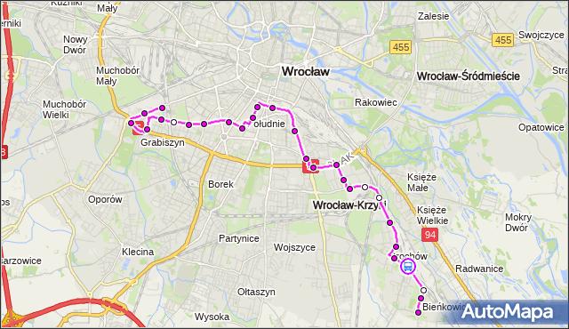 Rozkład jazdy autobusu 125 na przystanku BROCHÓW. MPKWroclaw na mapie Targeo