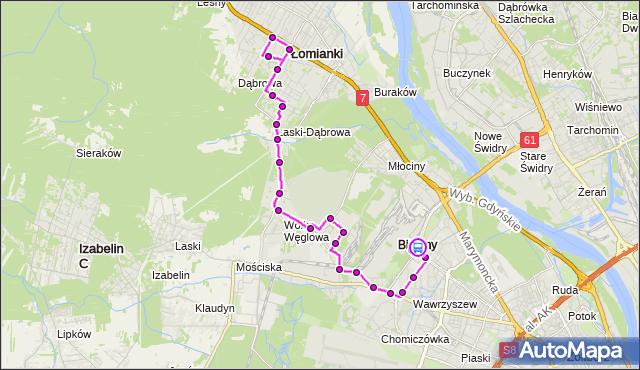 Rozkład jazdy autobusu 701 na przystanku METRO MŁOCINY 03. ZTM Warszawa na mapie Targeo