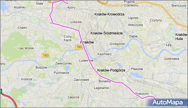 Autobus 173 - trasa Azory - Bieżanów  Nowy. MPKKrakow na mapie Targeo