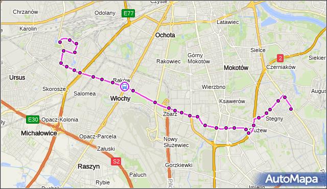Rozkład jazdy autobusu 189 na przystanku HYNKA 06. ZTM Warszawa na mapie Targeo