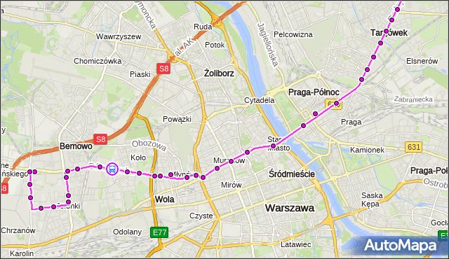 Rozkład jazdy autobusu 190 na przystanku GÓRALSKA 01. ZTM Warszawa na mapie Targeo