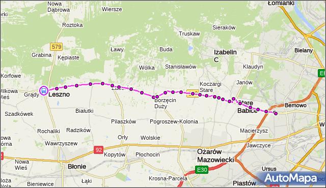 Rozkład jazdy autobusu 719 na przystanku Leszno 02. ZTM Warszawa na mapie Targeo