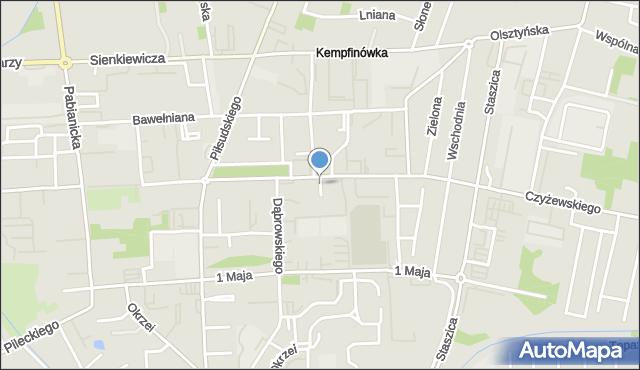Bełchatów, 1 Maja, os., mapa Bełchatów