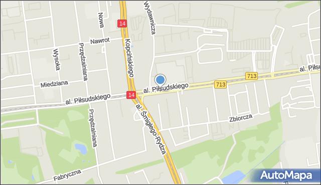Łódź, Aleja Piłsudskiego Józefa, marsz., mapa Łodzi
