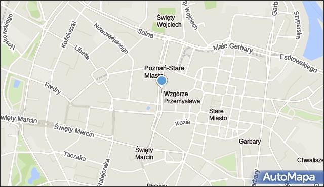 Poznań, Aleja Marcinkowskiego Karola, mapa Poznania