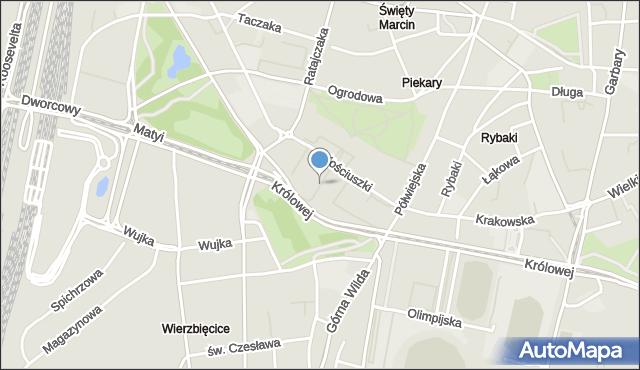 Poznań, Andersa Władysława, pl., mapa Poznania